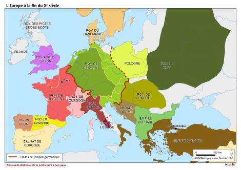 carte europe a travers les siecles