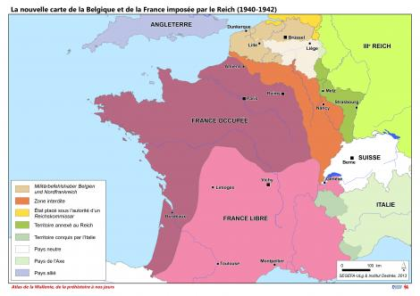 la nouvelle carte de la belgique et de la france impos e par le reich 1940 1942 conna tre la. Black Bedroom Furniture Sets. Home Design Ideas